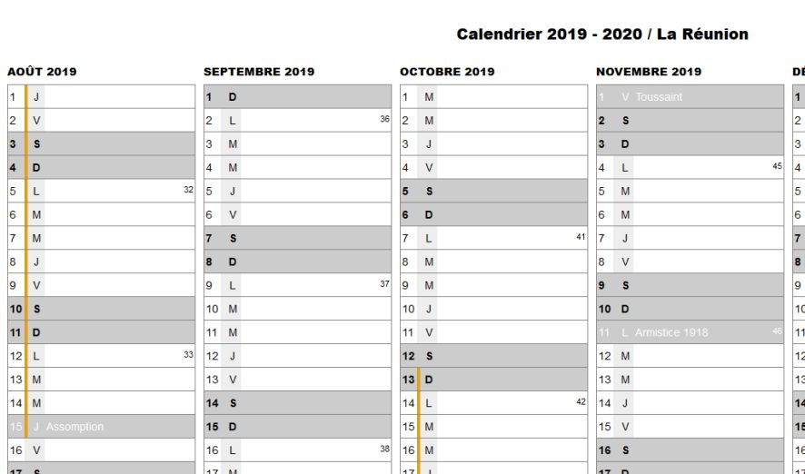 Calendrier 2020 Et 2020 Avec Vacances Scolaires.Calendrier 2019 2020 2021 Et Vacances Scolaires A La